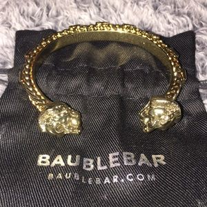 BRAND NEW Baublebar Gold Lion Bracelet Cuff